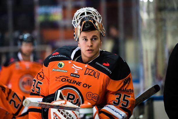 Antti Karjalainen pelasi viime syyskuussa kolme ottelua torjuntaprosentilla 89,8.