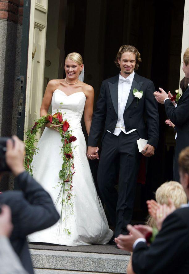 Heidi ja Niklas Sohlberg avioituivat kesällä 2005.