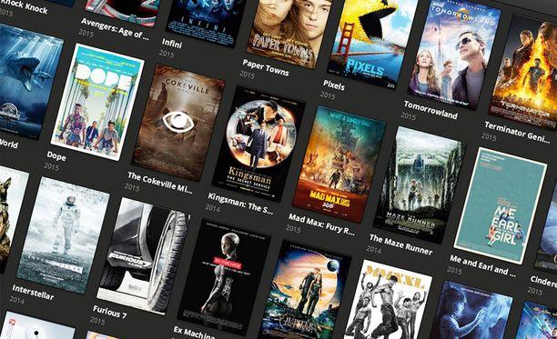 Popcorn Time -palvelussa on tarjolla laaja valikoima uutuuselokuvia.