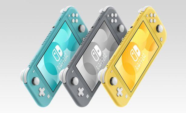 Switch Lite on saatavilla kolmella eri värillä.