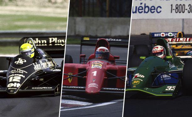 Tämä kolmikko on usein korkealla, kun kaikkien aikojen kauneinta F1-autoa etsitään.