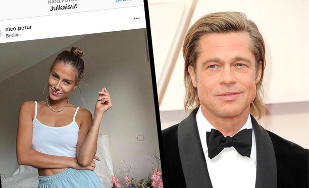 Brad Pittin uusi rakas on lähes 30 vuotta nuorempi mallikaunotar Nicole Poturalski.