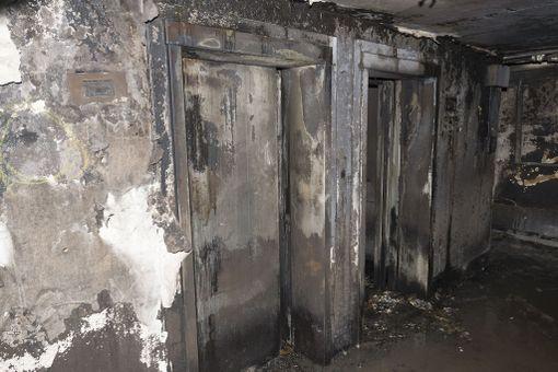 Asukkaat eivät päässeet pakenemaan hisseillä.