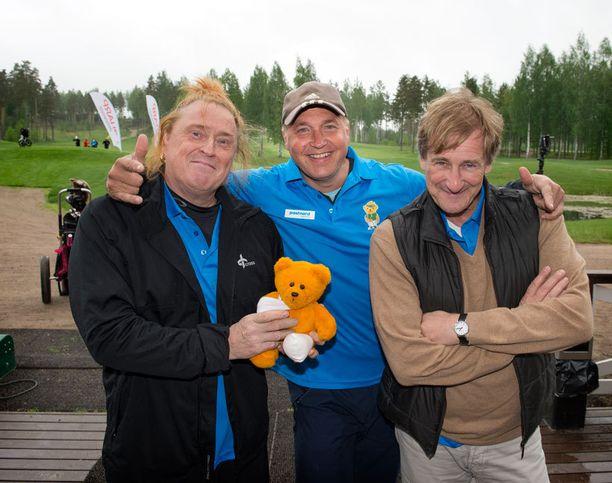 Golfaamassa kävivät myös Tommi Läntinen, Tony Montana ja Riki Sorsa.
