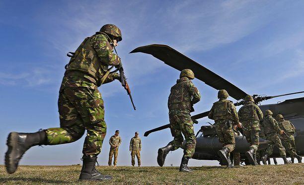 Naton sotaharjoitus Romaniassa.
