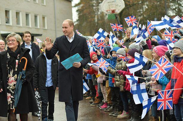 Prinssi William jatkoi Suomen-vierailuaan torstaina.