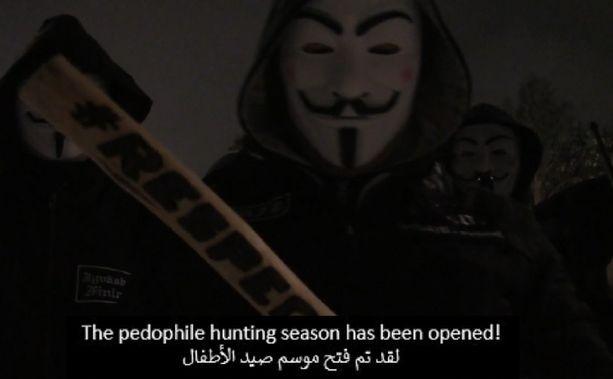 Maahanmuuttovastaiset ovat julkaisseet uhkausvideon, joka on tekstitetty arabiaksi.