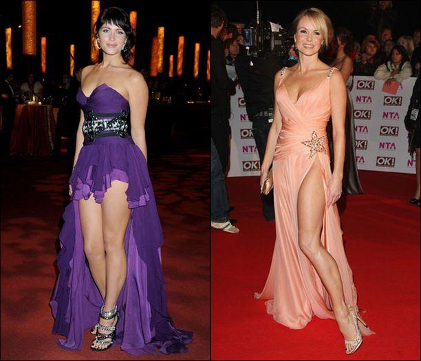 Gemma Arterton (vas.) ja Amanda Holden pitivät valokuvaajia kiireisinä Bond-elokuvan ensi-illassa.