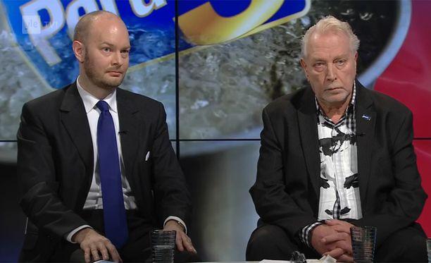 Sampo Terho ja Matti Putkonen olivat Ylen keskusteluohjelman vieraana.