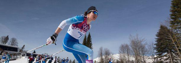 Mahdollinen aseellinen konfliksi todennäköisesti peruuttaisi Sotshin paralympialaiset. Kuvassa Kettu Niskanen olympialaisen 30 kilometrin hiihdossa.