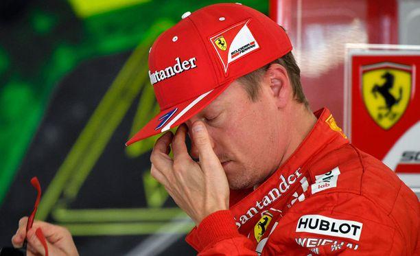 Kimi Räikkönen sai viiden lähtöruudun rangaistuksen.