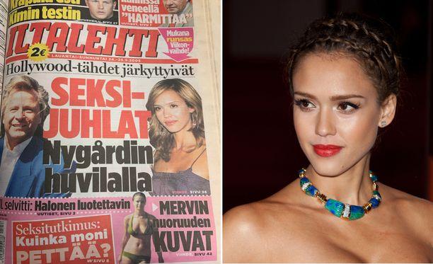 Jessica Alba nosti vuonna 2005 tapetille Peter Nygårdin huvilassa tapahtuneet juhlat.