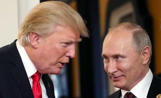 Donald Trump ja Vladimir Putin tapaavat Helsingissä heinäkuun 16. päivä.