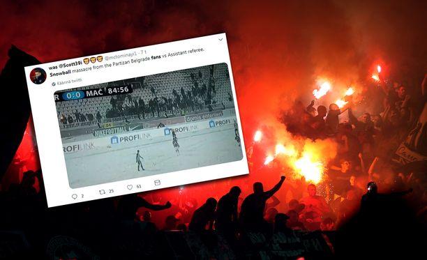 Partizanin kannattajat olivat tällä kertaa otsikoissa suhteellisen harmittomasta tempauksesta