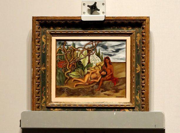 """Frda Kahlo maalasi """"Kaksi alastonta metsässä"""" vuonna 1939."""