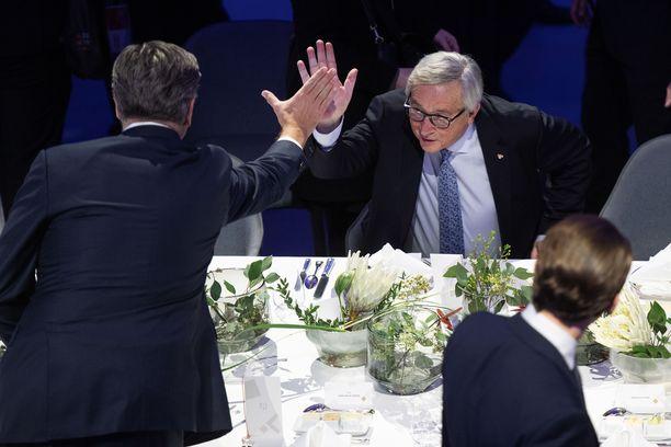 Juncker heitti yläfemmat Kroatian pääministerin kanssa.