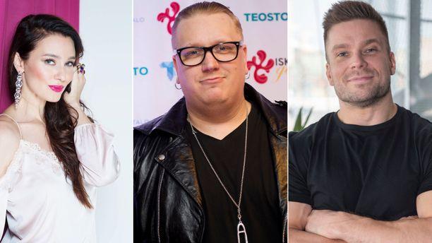 Noora Hautakangas, Arttu Wiskari ja Vertti Harjuniemi ovat yksityisyrittäjiä.