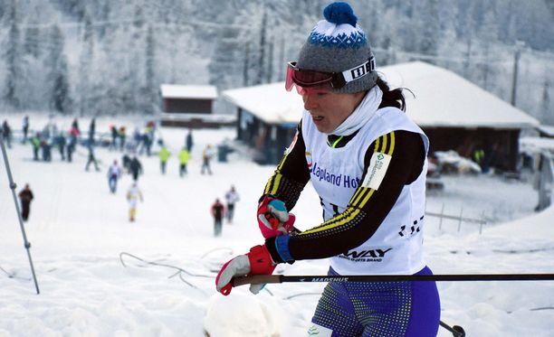 Krista Pärmäkoski oli parhaana suomalaisena toinen Oloksen kansainvälisissä kilpailuissa.