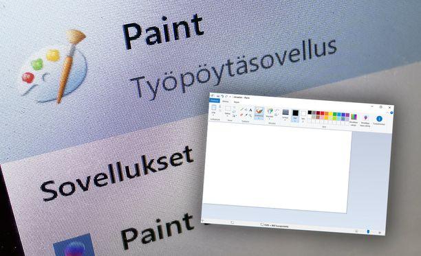 Paint pysyy vielä osana Windows-koneita.