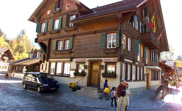 Oberbort, Gstaadin hiihtokeskus, Sveitsi.