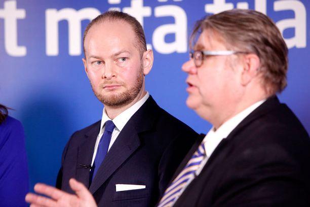 Euroedustaja Sampo Terho ylsi eduskuntaan.