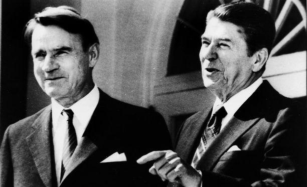 Presidentti Mauno Koivisto tapasi Yhdysvaltain Ronald Reaganin syksyllä 1983.