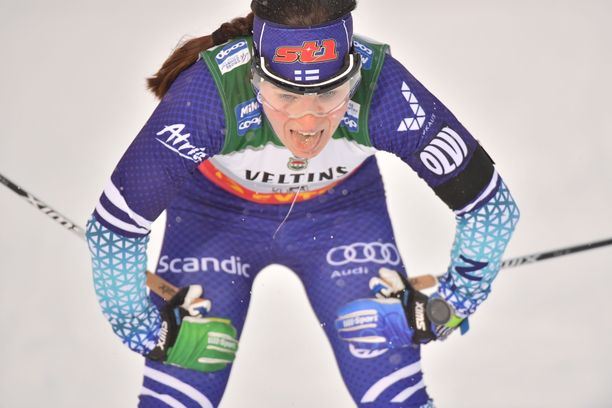 Krista Pärmäkoski hiihti jatkoon spinttikarsinnasta.