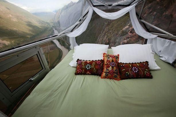 Ylhäältä avautuu 300 asteen näkymä Sacred Valleyyn.