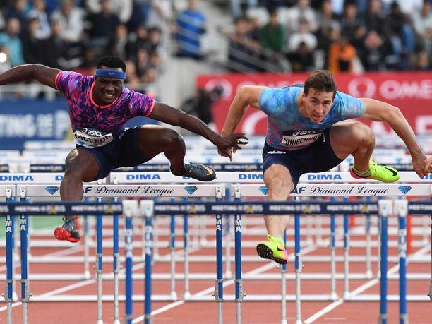 McLeod ja Shubenkov ovat taistelleet 110 metrin aitojen voitosta aiemminkin. Kuva vuoden 2017 Timanttiliigasta.