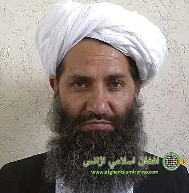 Useat mediat käyttävät tätä kuvaa Hibatullah Akhundzadasta. Taliban kiistää, että ääriliikkeen johtajasta on olemassa kuvia. Akhundzada on johtanut islamistista ääriliikettä vuodesta 2016.