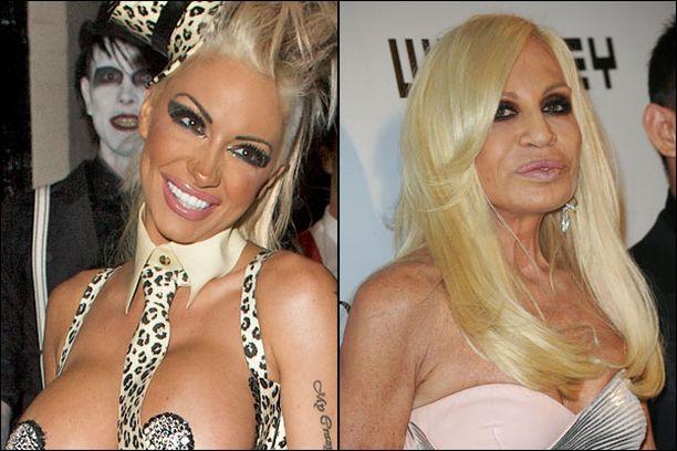 Brittikyselyn vastaajat eivät myöskään pitäneet glamourmalli Jodie Marshin ja Donatella Versacen ulkonäöstä.