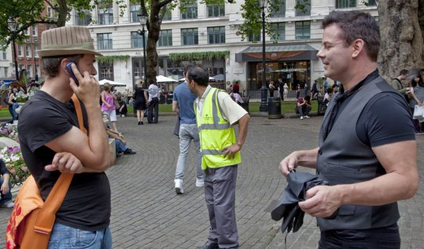 Kuvaukset Lontoossa tuottivat kahnauksia poliisin kanssa.
