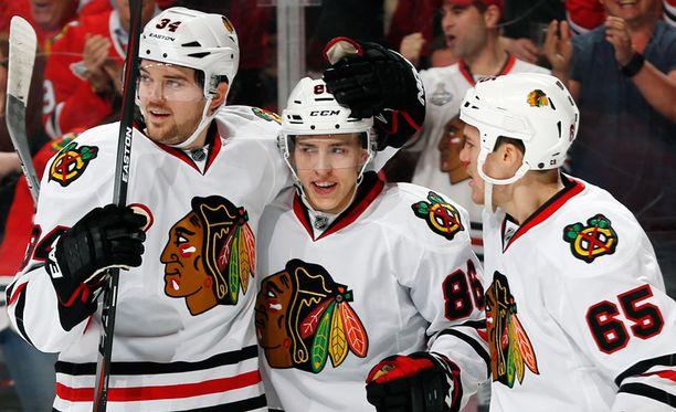 Teuvo Teräväinen osui heti ensimmäisessä ottelussaan tuoreimman NHL-kutsun jälkeen.