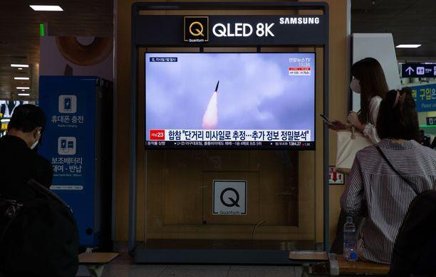 Pohjois-Korea ampui ohjuksen maan itärannikolta Japaninmereen.