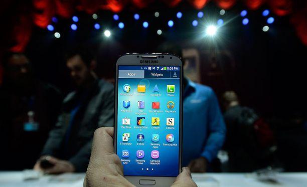 Samsung esitteli Galaxy S4 -puhelimen New Yorkissa.