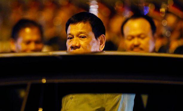 Filippiinien presidentti Rodrigo Duterte saapui Asean-maiden huippukokoukseen maanantaina. Hän on tunnettu kovista puheistaan.