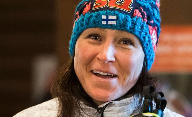 Aino-Kaisa Saarinen palkittiin vuoden urheilupostauksesta.