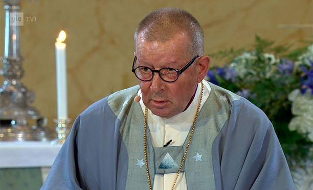 Piispa Huovisen siunauspuheessa Koiviston isot kädet olivat rauhan kädet