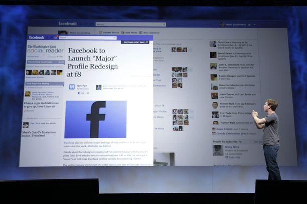 Tältä uudistettu Facebook näyttää.