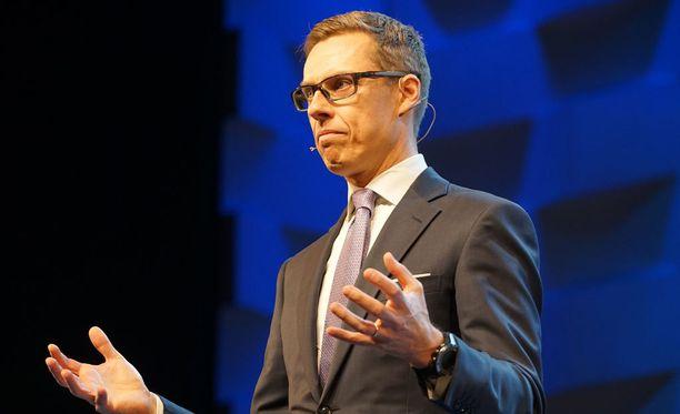 Alexander Stubb puhui kokoomuksen puheenjohtajapäivillä.
