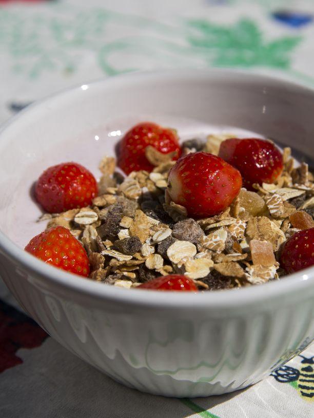 Aamiaisen koostumus on oleellinen laihduttajalle.