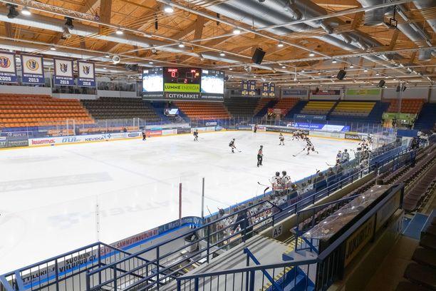 Jukurit pelasi viime kauden viimeisen ottelun tyhjille katsomoille koronaviruksen vuoksi.