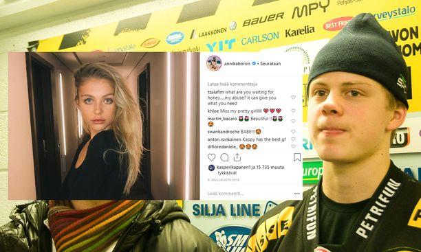 Kasperi Kapasen ja Annika Boronin sometileillä ei ole enää muistutusta parin suhteesta.