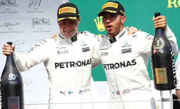 Montrealin GP oli Mercedeksen juhlaa. Lewis Hamiltonin voiton täydensi Valtteri Bottaksen kakkossija.