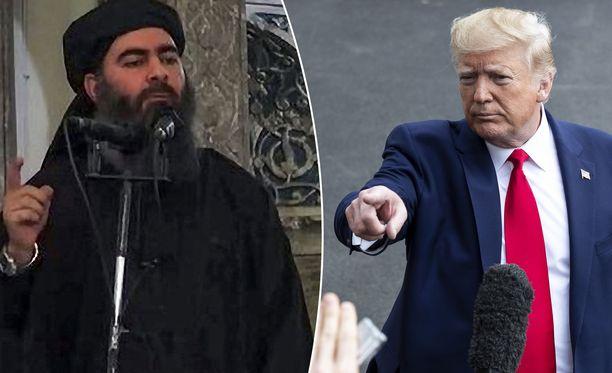 Yhdysvaltain presidentti Donald Trump piti tiedotustilaisuuden, jossa vahvisti Isis-johtaja Abu Bakr al-Baghdadin kuolleen.