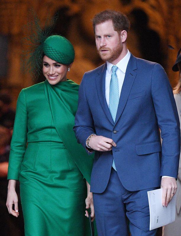 Meghan ja Harry edustivat Lontoossa maaliskuun puolivälissä ennen hovin työtehtäviensä jättämistä.