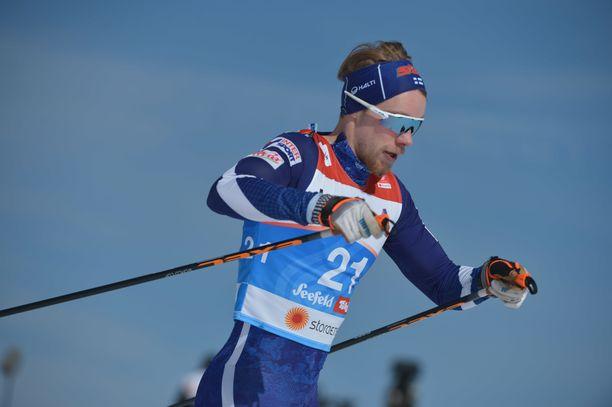 Joni Mäki oli hienossa vauhdissa MM-sprintin karsinnassa.