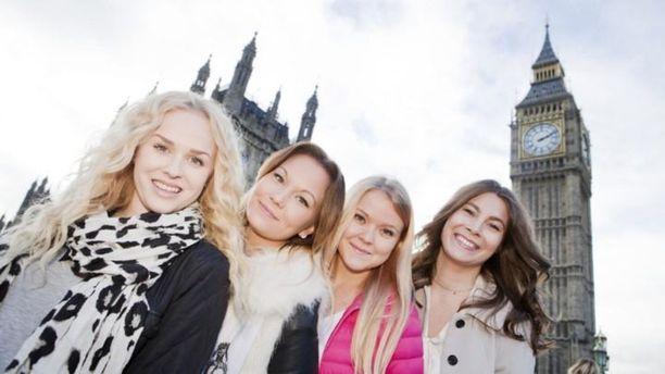 Tältä au pairit näyttivät vuonna 2014. Vasemmalta oikealle: Jasmiina, Mira, Hilla-Maria ja Anna.