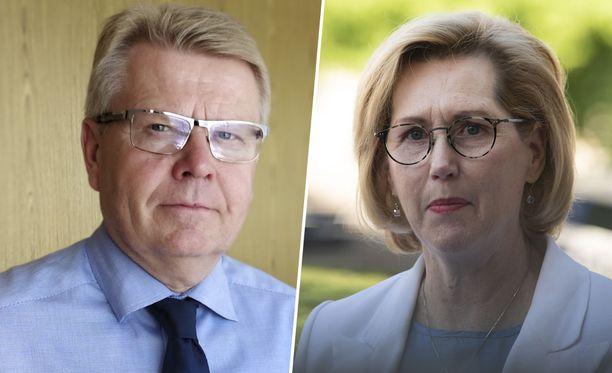 EK:n toimitusjohtaja Jyri Häkämies ja työministeri Tuula Haatainen (sd) ovat olleet torstaina kirjeenvaihdossa.