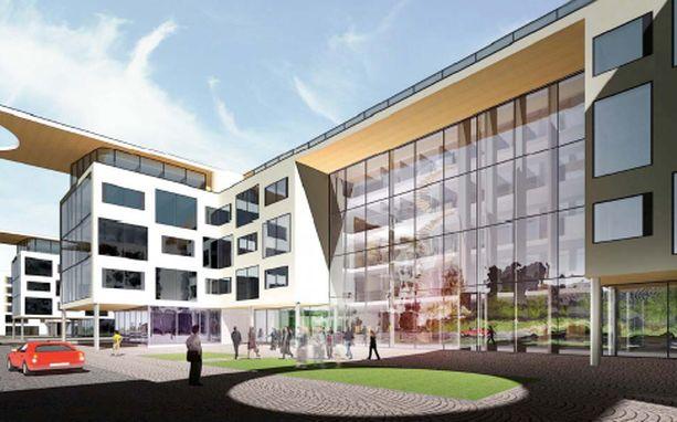 """HAVAINNEKUVA2 Alma Median uudesta talosta ei haluta mitään """"toimistokolossia"""" vaan osa elävää kaupunkikeskustaa. Rakennuksesta järjestetään suunnittelukilpailu."""